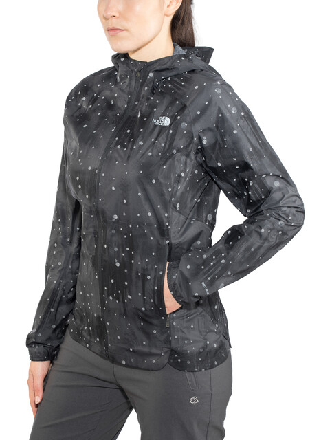 The North Face Stormy Trail Jacket Women TNF black reflective firefly print